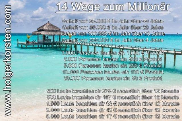 14 Wege zum Millionär