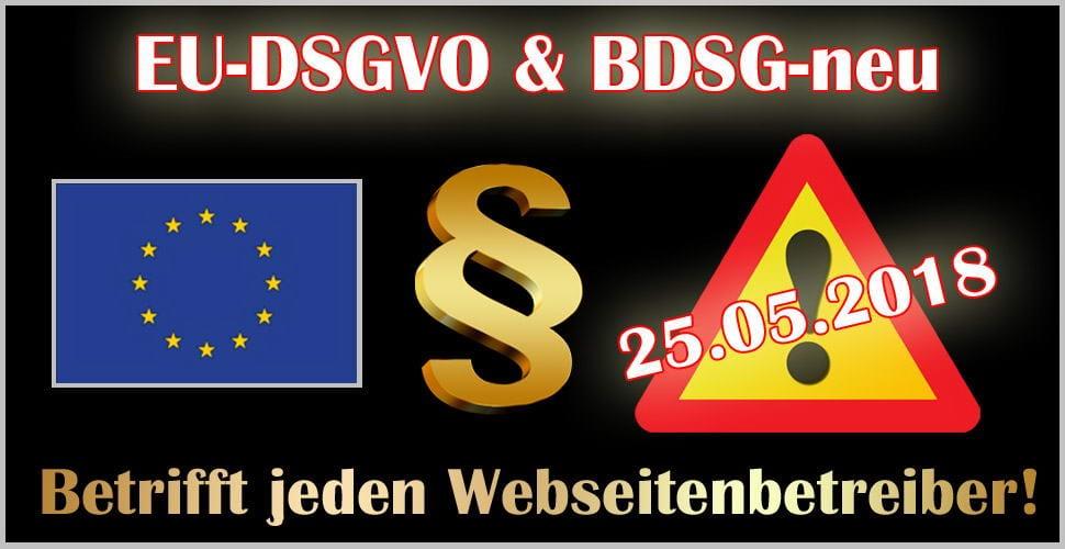 EU Datenschutzgrundverordnung - EU-DSGVO